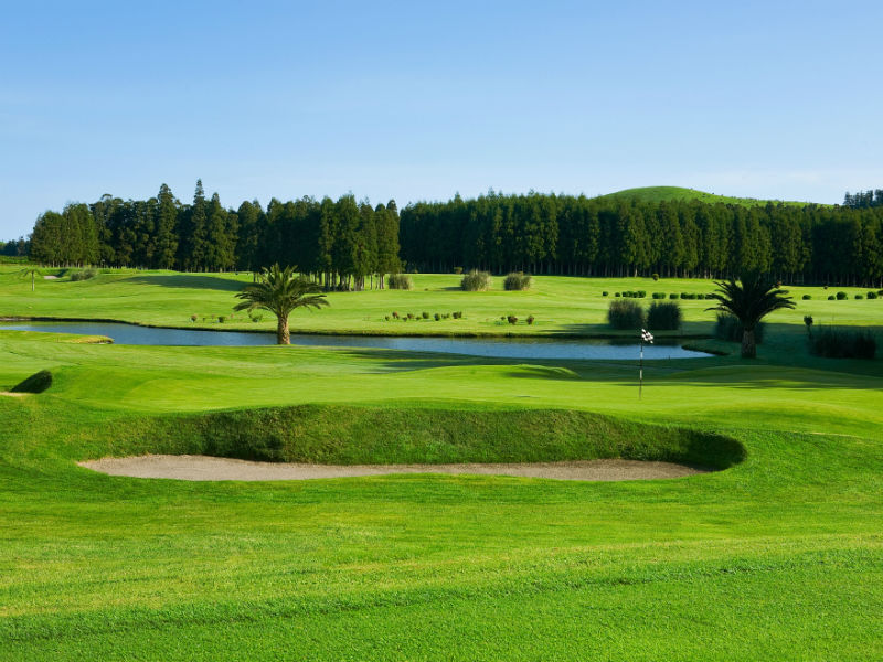 Check out the beautiful scenery in Portugal at the Furnas Golf Course in Sao Miguel Island, Azores