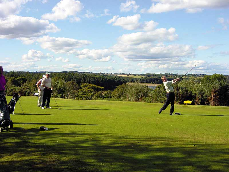Enjoy a beautiful autumn game of golf at Sand Moor Golf Club in West Yorkshire, England